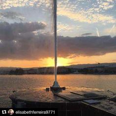 Le Jet d'eau vu de près  Taking a closer look at Geneva's Jet d'eau  Merci @elisabethferreira9771