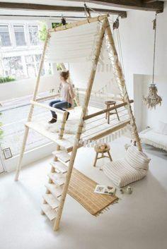Relooking et décoration 2017 / 2018   espace de détente chambre ado fille spacieuse esprit safari