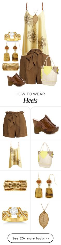 """brown and yellow"" by kim-coffey-harlow on Polyvore"