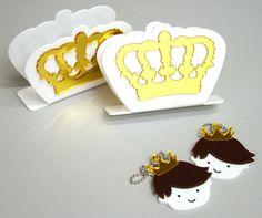 Festa para os príncipes! porta guardanapo + chaveiro personalizado