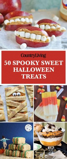 30 Fun and festive Halloween snack ideas that the whole family will love. Try these quick and easy Halloween treats and party food as appetizers for your Halloween get together. These Halloween recipes are perfect for both adults and kids alike! Halloween Desserts, Homemade Halloween Treats, Hallowen Food, Halloween Goodies, Halloween Food For Party, Halloween Halloween, Terrifying Halloween, Halloween Decorations For Kids, Halloween Designs