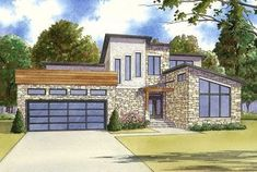Get 3 beds and over 2,400 square feet of living with Architectural Designs Modern House Plan 70522MK. Ready when you are. Where do YOU want to build?