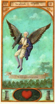(43) VEULIAH (Kabbalistic angel) protects those born 24 - 28 October, frees from enemies, motivates peace and prosperity. (ángel Cabalístico) protege aquellos nacidos 24 - 28 octubre, libra de los enemigos, motiva la paz y la prosperidad.