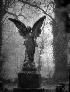 black and white angel grave marker poster - Google Search
