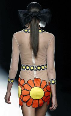 María Escoté Moda Madrid, Electric Daisy, Spring 2016, Hippy, Spring Summer 2016, Neckline, Walkway, Women