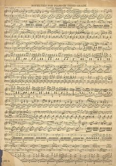 Vintage Sheet Music ~ great heritage background!