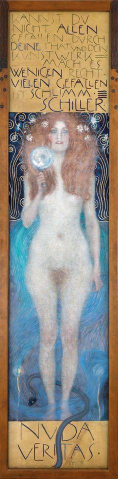 Nuda Veritas, 1899 by Gustav Klimt on Curiator, the world's biggest collaborative art collection. Gustav Klimt, Creative Skills, Collaborative Art, Famous Last Words, Magazine Art, Portrait, About Me Blog, Drawings, Illustration
