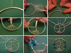 How to Make a Beaded Dreamcatcher - http://www.decorationarch.net/creative-ideas/how-to-make-a-beaded-dreamcatcher.html