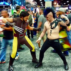 Wolverine Face Off!! #comiccon #sdcc #cosplay