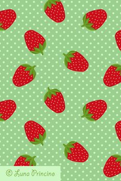 Strawberry pattern by Luna Princino. Seamless vector texture is available on Shutterstock. #graphic #design #seamless #pattern #vector #texture #beautiful #background #wallpaper #graphics #trendy #creative #decor #decorative #decoration #tile #strawberry #strawberries #tasty #berries #berry #fruit #green #and #red #colors #polka #dot #dots #dotted #delicious #colorful #cartoon #cute #pretty #cloth #fabric #food #illustration #nature #natural #fresh #raw #ripe #retro #spring #summer #plant…