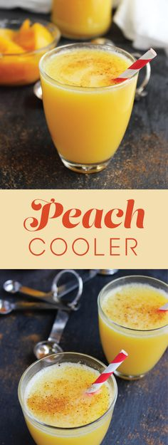 On a hot, summer day, freeze the drained peaches (or fresh) for at least 45 minutes before preparing this sweet and tangy drink. Supplemental Nutrition Assistance Program, Eat Right, Eating Well, How To Stay Healthy, Good Food, Frozen, Peach, Tasty, Fresh
