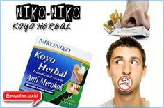 DISKON SPESIAL - Koyo Herbal NikoNiko Akan Kurangi Dan Hilangkan Kebiasaan Merokokmu Hanya Rp. 35,000 - www.evoucher.co.id #Promo #Diskon #Jual  Klik > http://evoucher.co.id/deal/niko-niko-koyo-anti-rokok  Koyo Herbal NikoNiko, Koyo yang dapat menurangi hingga menghentikan kebiasaan merokokmu. Yuk gunakan Koyo NikoNiko, Hidup Lebih Segar Dan Sehat Tanpa Merokok Berlebih  Pengiriman akan dimulai tanggal 2014-02-22