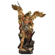 Spiritual Grocery is the leading religious store providing over products. We are importer and distributor of catholic gifts and religious items. Catholic Gifts, Catholic Art, Religious Art, Saint Michael, Wooden Statues, Made Of Wood, Painters, Framed Art, Artisan