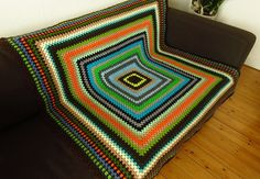 Vibrant, colourful, cheerful #afghanblanket available to buy at https://www.etsy.com/uk/shop/Phoenixsmiles
