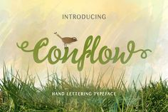 Conflow is a new hand lettering font. Available for both personal and commercial use. Including over 350 hand lettering characters for a range of languages.