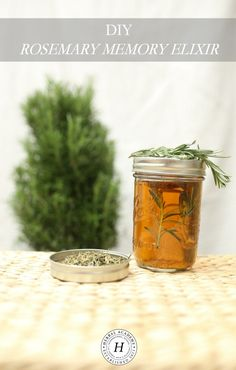 As we age, it's important to keep our memory healthy. Learn how to keep your brain active and healthy with this DIY Rosemary Memory Elixir! Cold Home Remedies, Cough Remedies, Natural Health Remedies, Natural Cures, Natural Healing, Herbal Remedies, Natural Foods, Holistic Healing, Bloating Remedies