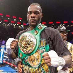 Wilder urges Anthony Joshua to agree to unification bout Deontay Wilder and his WBC heavyweight titleDeontay Wilder and his WBC heavyweight title Combat Boxe, Bronze Bomber, Boxing Images, Boxing Posters, Deontay Wilder, Professional Boxing, Ufc Boxing, Boxing History, Sports