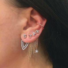 Here's an adorable way to get personal with your earring stack.✨This delicate…