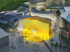 Betonrelief im Paradies - Entertainment-Komplex von MVRDV in Seoul