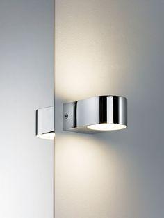 Applique de miroir Bellatrix IP44 LED 2x3,5W chrome/satin 230V métal/verre (70494)