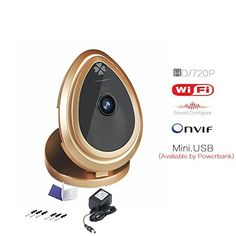 HD 720P Indoor Wireless Monitoring Smartphoneview Audio IP Network Camera Baby Monitor Gold * Be sure to check out this awesome product.Note:It is affiliate link to Amazon.