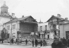 ul. Bajkowskiego, Ratusz po bombardowaniu.