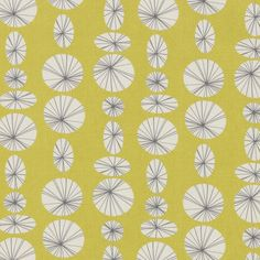 Interesting pattern-- weird 70's yellow with variating circles and ovals~~~ Love this!!!!