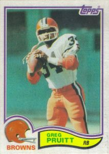 Greg Pruitt 1982 Topps #69 football card Cleveland Browns Hat, Cleveland Browns History, Football Trading Cards, Football Cards, Baseball Cards, Browns Football, Football Conference, Vintage Football, American Football