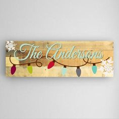 Holiday Light Personalized Wall Canvas