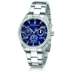 Talking About Competizione Chronograph Multi Blue Dial Stainless Steel Mens Watch