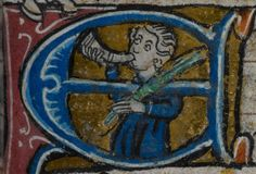 Detail from medieval manuscript, British Library Stowe MS 17 'The Maastricht Hours', f91r