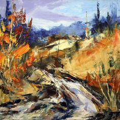 Énergie d'octobre par Michel Pleau 24 x 24 / Huile sur toile  #Art #Artwork #Artist #artiste #paysage #landscape #painting #peinture #HomeDecor Routes, Michel, Land Scape, Paintings, Gallery, Artwork, Figurative Art, Paint, Paths