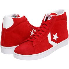 Converse Pro Leather Mid ($52) ❤ liked on Polyvore