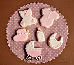 Galletas de bautizo. Baby shower cookies.