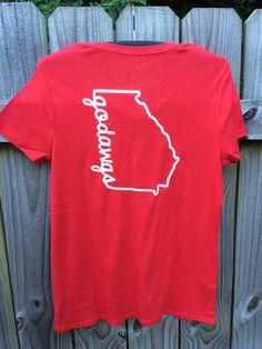 Georgia bulldogs shirt  godawgs shirt by DesignsbysouthernEdg