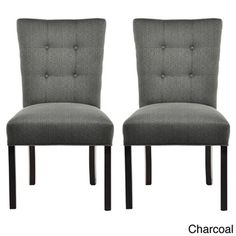 La Mode 4-button Stitched Fanback Candice Dining Chair (Set of 2) | Overstock.com Shopping - Great Deals on Sole Designs Dining Chairs