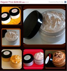 SALE - Whipped Soap - Soap in a Jar - Sugar Scrub - Choose Any 4 - Mix and Match - 4 oz each - www.bigtranchsoap.etsy.com