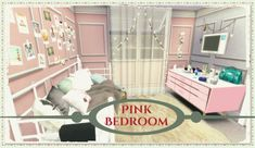 Dinha Gamer: Pink Bedroom • Sims 4 Downloads