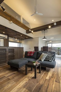 Home Color Floors 39 Trendy Ideas Best Interior, Home Interior Design, Interior Styling, Interior Architecture, Japanese Home Decor, Japanese Interior, Modern Tiny House, Trendy Home, Home Living Room