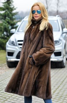 mink furs - new 2015 brown swinger saga mink fur coat
