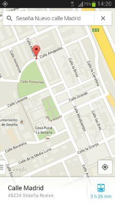 "Mapa actual de Seseña Nuevo."" Mi hogar: calle Madrid-1-""*******"