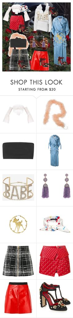 """I miss you"" by aurorazoejadefleurbiancasarah ❤ liked on Polyvore featuring Balmain, Alice McCall, Topshop, Latelita, Disney Couture, SCENERY, Calvin Klein Jeans and Dolce&Gabbana"