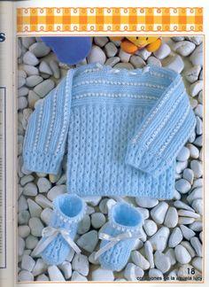 "Photo from album ""Muestras y Motivos on Yandex. Baby Knitting, Fingerless Gloves, Arm Warmers, Crochet Hats, Album, Model, Yandex Disk, Pullover, Crochet Dress Girl"