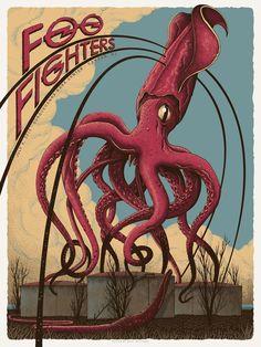 Foo Fighters Poster Camden 2015 by Neal Williams