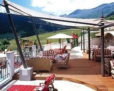 Löwe and Bär Hotel, Tirol, Austria.  This child-friendly resort of Serfaus is a dream. Watch as your kids actively flee their parents to explore the vast indoor play area, and 187 km of slopes nearby.