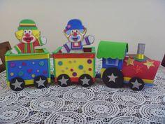 Trenzinho Colorido feito em EVA