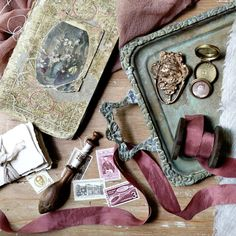 sifting through pretty details that arrived from Israel, @signoraemare and @silkandwillow for upcoming projects. Xx