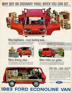 What a pickup! 1963 Ford Econoline Vans