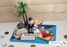 Hochzeitskarte 3D Karte Flitterwochen Hochzeit