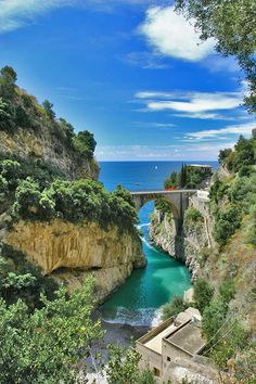 Furore creek seen from the top of the hill, Amalfi coast, Italy ✯ ωнιмѕу ѕαη∂у